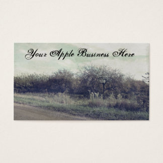 Retro Rustic Spring Apples Trees Beautiful Orchard Business Card