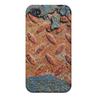 Retro Rusty Street Grunge Texture Pattern iPhone 4 Covers