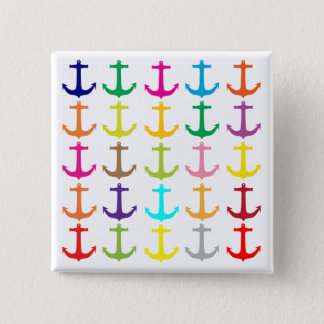 Retro sailors nautical anchor pattern 15 cm square badge