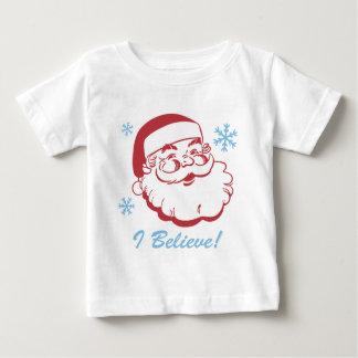 Retro Santa Believe Baby T-Shirt