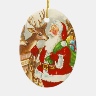 Retro Santa Christmas Ornament