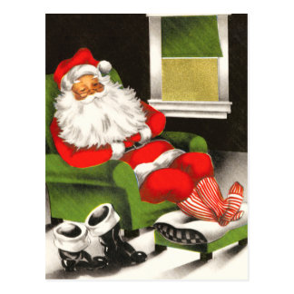 Retro Santa Christmas Postcards