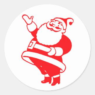 Retro Santa Classic Round Sticker