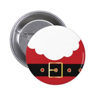 retro santa claus 6 cm round badge