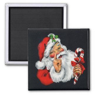 Retro Santa Claus Christmas Magnet