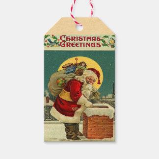 Retro Santa Claus Holiday Gift Tags