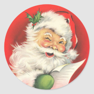 Retro Santa Claus stickers
