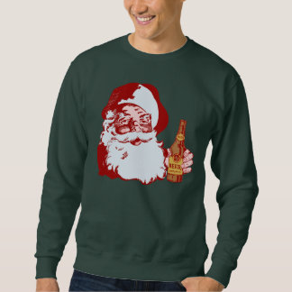 Retro Santa Claus with a Beer Christmas Pull Over Sweatshirt