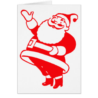 Retro Santa Greeting Card