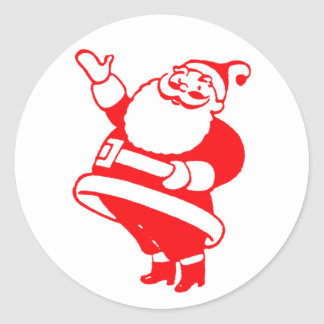 Retro Santa Round Sticker
