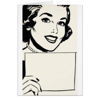 Retro Sarcasm - My List is Blank, Card