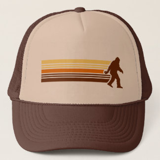 Retro Sasquatch Design Mesh Trucker Hat