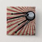 Retro satellite 15 cm square badge