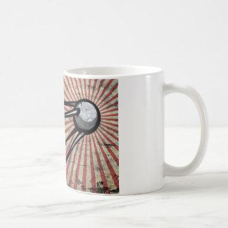 Retro satellite coffee mug