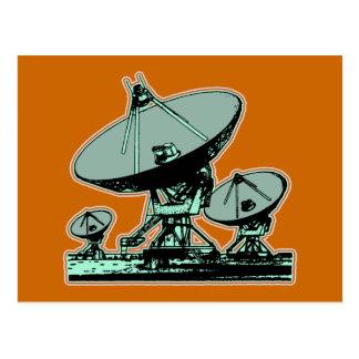 Retro Satellite Dish Post Card