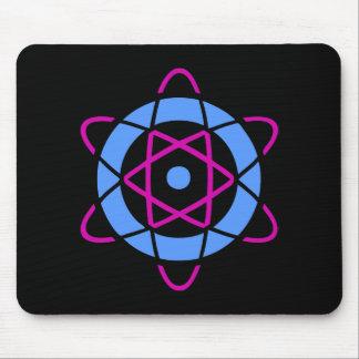 Retro Sci-Fi Atom Symbol Mouse Pad
