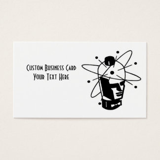 Retro Sci-Fi Robot Head - Black & White Business Card