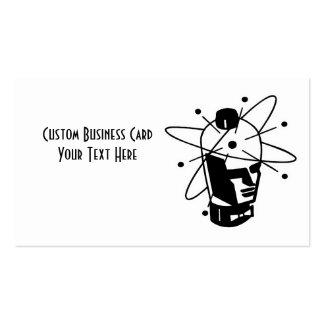 Retro Sci-Fi Robot Head - Black & White Business Cards