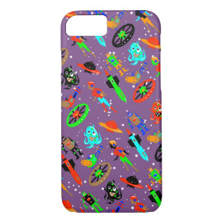 RETRO SCIENCE FICTION by Jetpackcorps iPhone 8/7 Case
