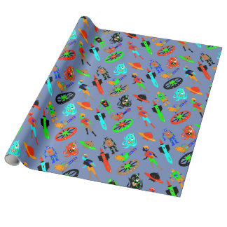 RETRO SCIENCE FICTION by Jetpackcorps Wrapping Paper