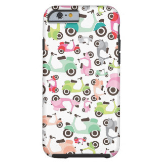 Retro scooter pattern art iPhone 6 case