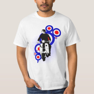 Retro Scooter Rider on Mod Target art T-Shirt