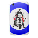 Retro Scooter Rider on Target iPhone 3 Covers