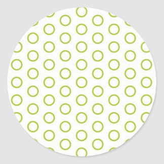 retro scores pünktchen polka dots dab dabbed round sticker