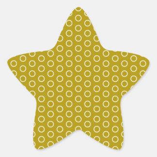 retro scores pünktchen polka dots dab dabbed star sticker