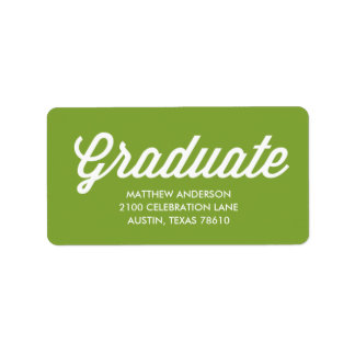 Retro Script | Graduation Address Label