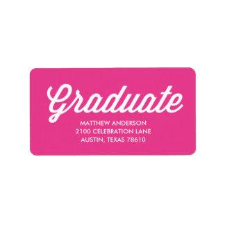 Retro Script   Graduation Address Label