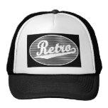 Retro script logo in white mesh hats