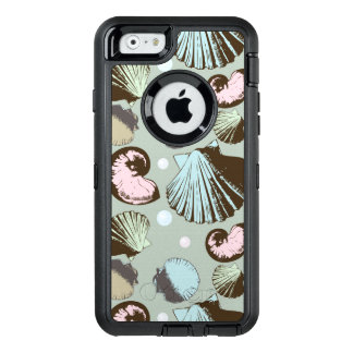 Retro Seashell Pattern OtterBox Defender iPhone Case