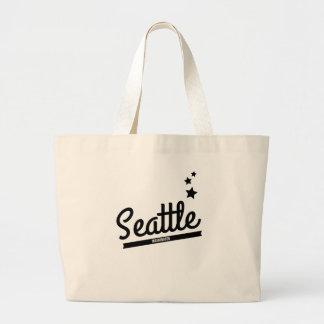 Retro Seattle Logo Canvas Bags