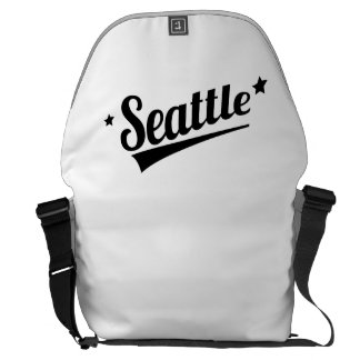 Retro Seattle Logo Courier Bag