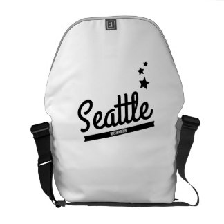 Retro Seattle Logo Messenger Bags