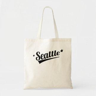 Retro Seattle Logo Tote Bags