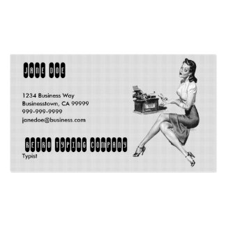 Retro Secretary B/W Pack Of Standard Business Cards