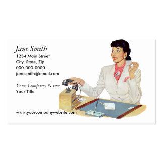 Retro Secretary Business Cards