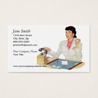 Retro Secretary Business Card