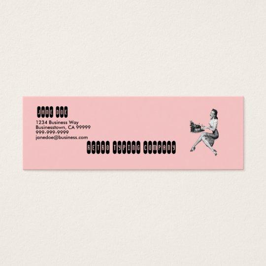 Retro Secretary Mini Business Card