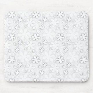 retro sepia flowers mouse pad