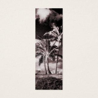 Retro Sepia Hawaiian Palm Trees Customized Palms Mini Business Card