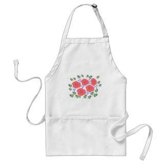 Retro Seventies floral design Aprons
