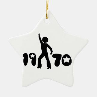Retro Seventies Man Ceramic Star Decoration