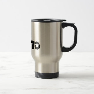 Retro Seventies Man Stainless Steel Travel Mug