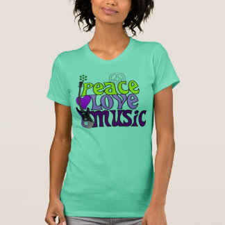 Retro seventies peace love music T-Shirt