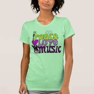 Retro seventies peace love music T-Shirt