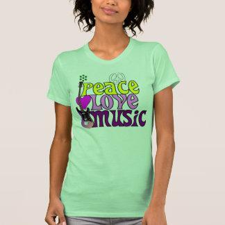 Retro seventies peace love music t shirts