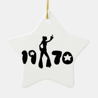 Retro Seventies Woman Christmas Ornament